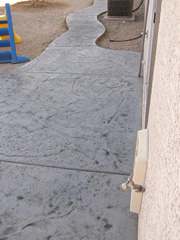 gray stamp concrete walk